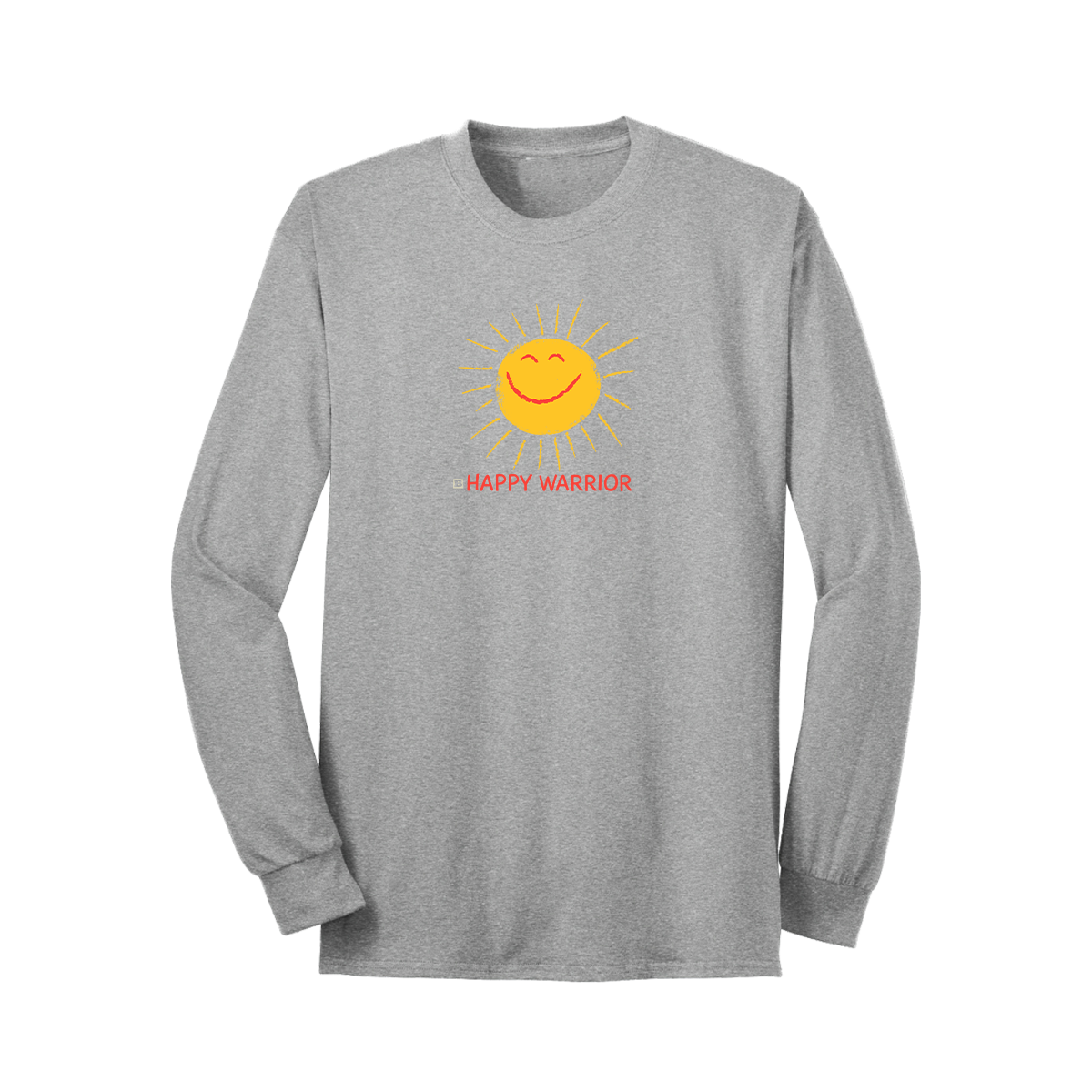 Happy Warrior Long Sleeve T-Shirt - Grey