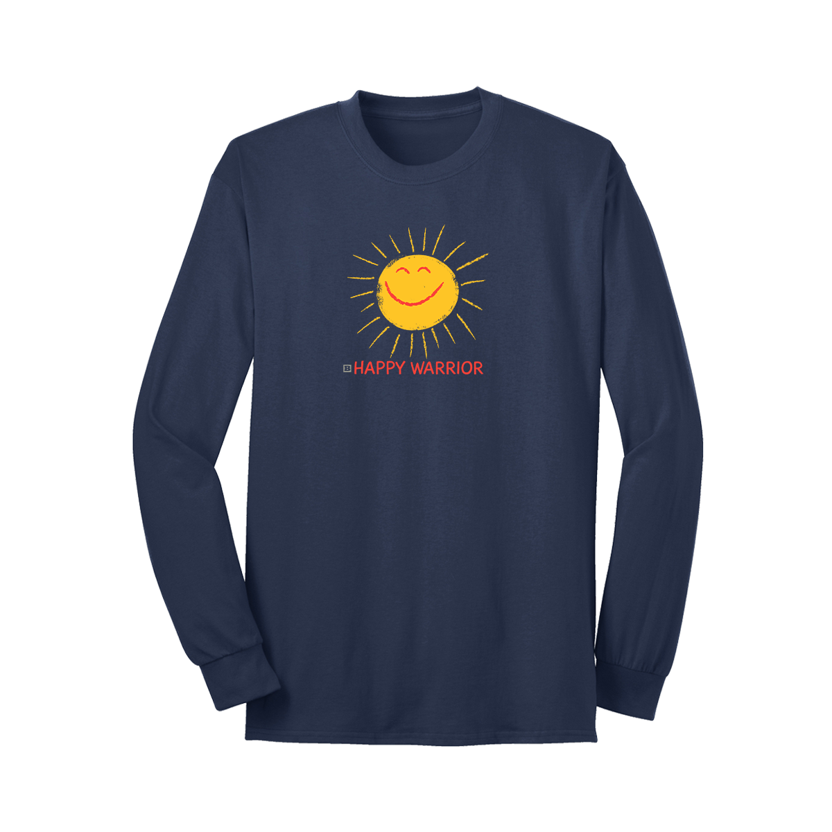 Happy Warrior Long Sleeve T-Shirt - Navy