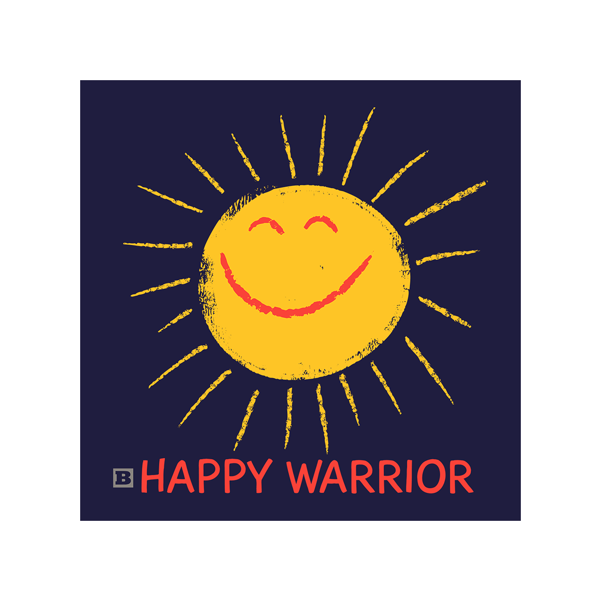 Happy Warrior Women's T-Shirt - Navy