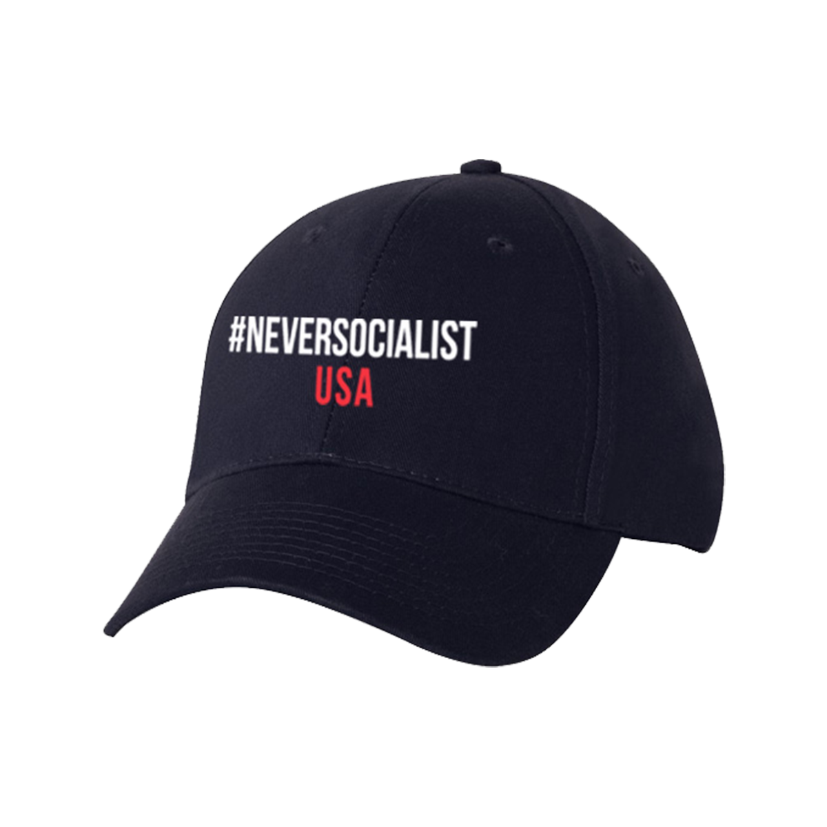 #NeverSocialist USA Hat - Navy