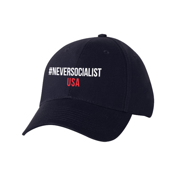 NeverSocialist USA Hat Navy