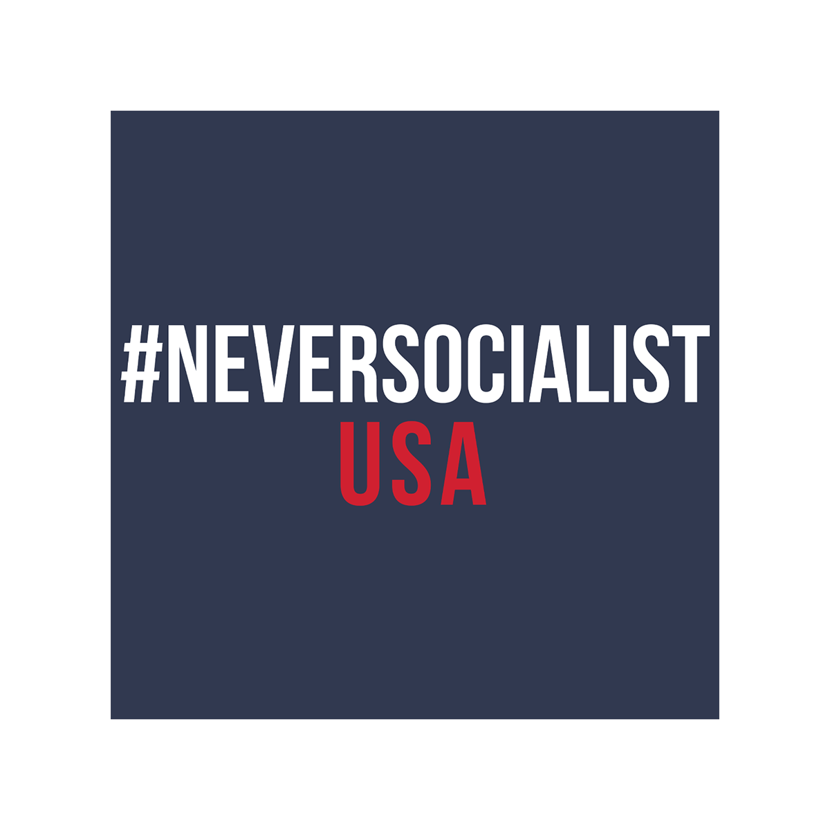 NeverSocialist USA Long Sleeve T Shirt Navy