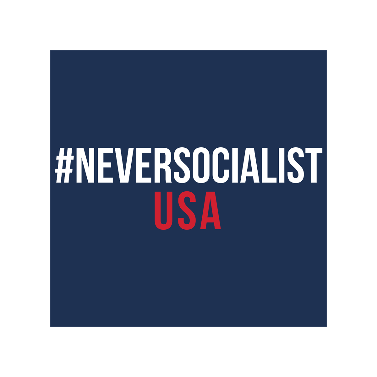 #NeverSocialist USA T-Shirt - Navy