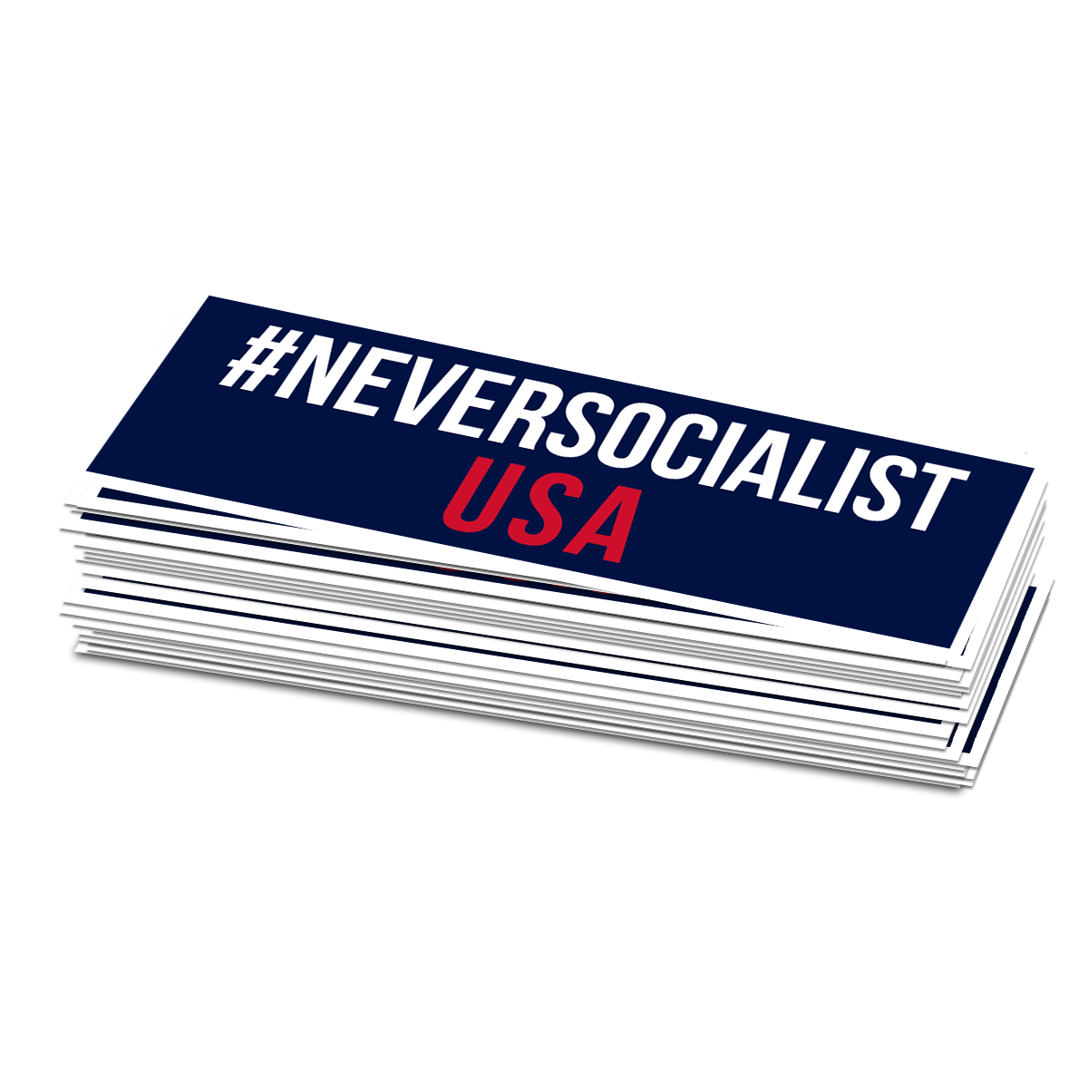 #NeverSocialist USA Bumper Sticker - Set of 2