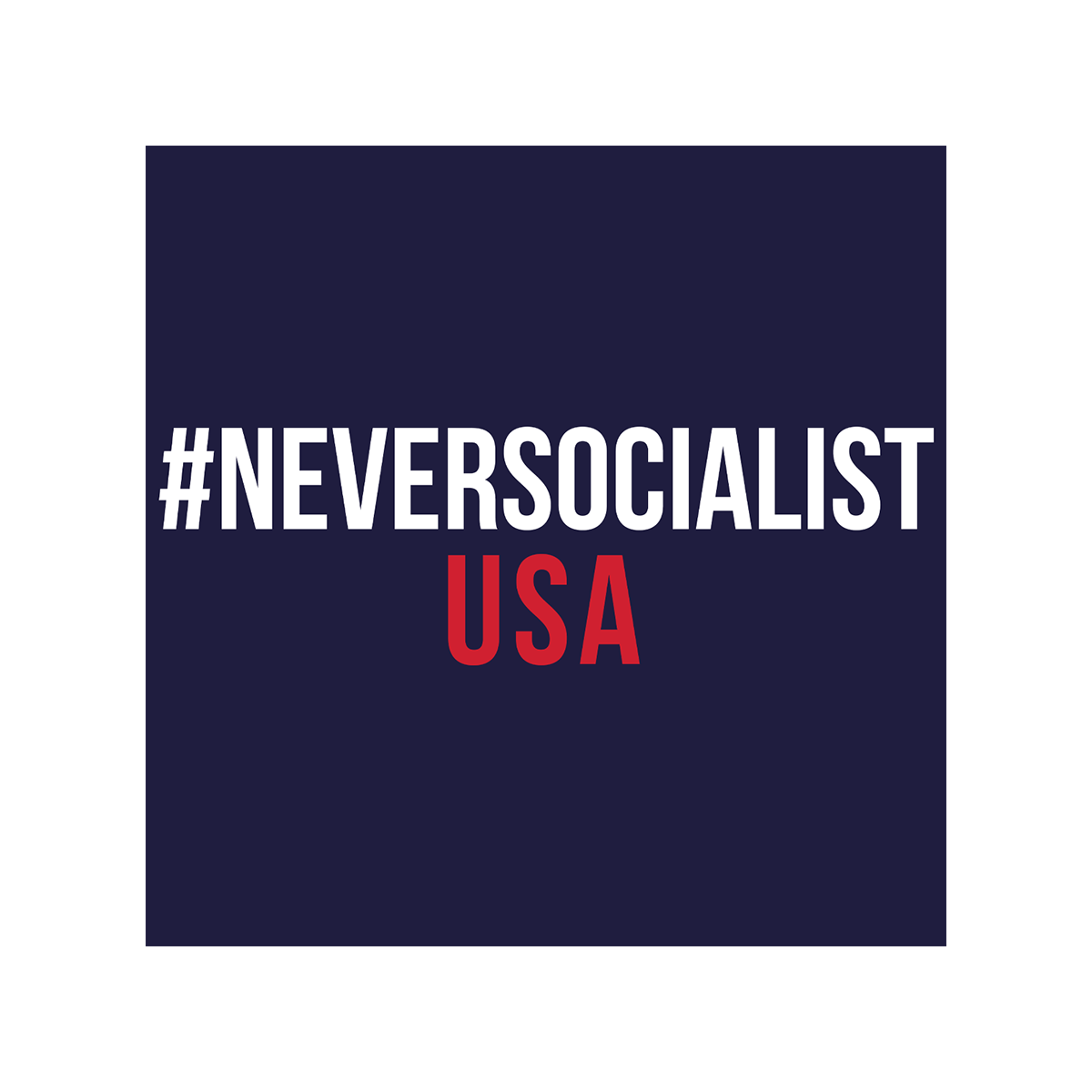 #NeverSocialist Women's USA T-Shirt - Navy