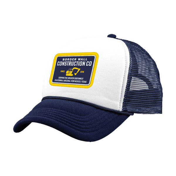 Border Wall Construction Company Hat - Navy