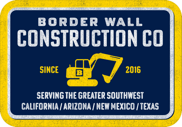 Border Wall Construction Company Sticker - Set of 2