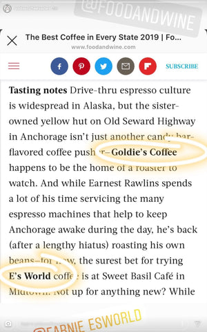 food and wine arcticle on best coffee every state 2019 alaska cutout