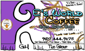 EsWorldCoffee Number Two Group Blend label