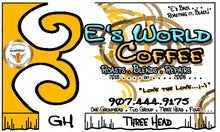 Load image into Gallery viewer, EsWorldCoffee Number Three Head Blend Coffee label