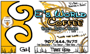 EsWorldCoffee Number Three Head Blend Coffee label