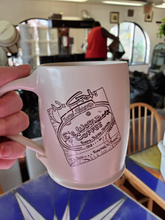 Load image into Gallery viewer, WwifeE being funny putting E in an E's World Coffee Mug.