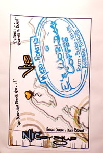 E's World Coffee #NICaragua coffee bag label