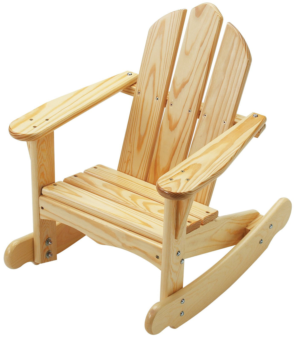 Child's Adirondack Rocker - Natural