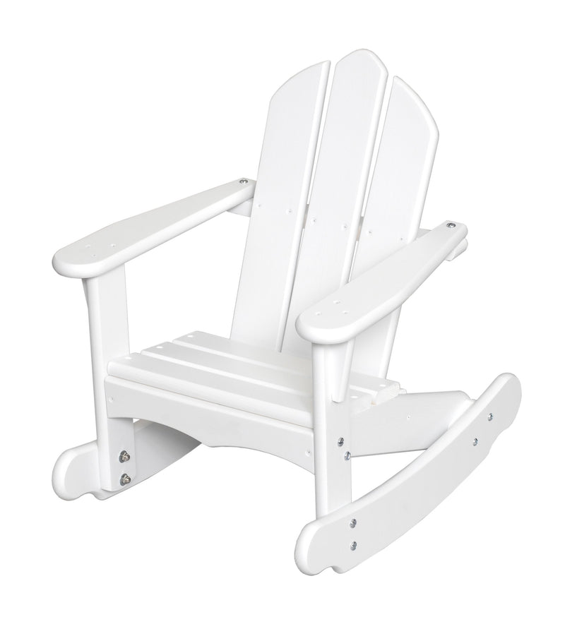 Child's Adirondack Rocker - Solid White