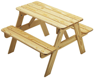 Child's Picnic Table - Natural
