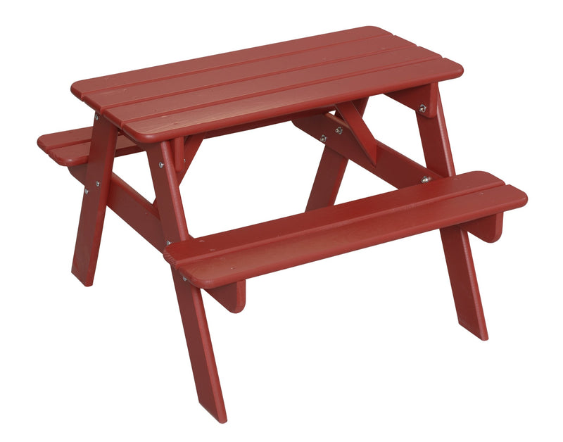 Child's Picnic Table - Red
