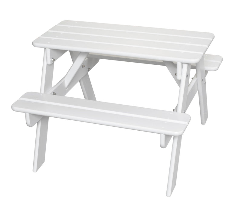 Child's Picnic Table - Solid White