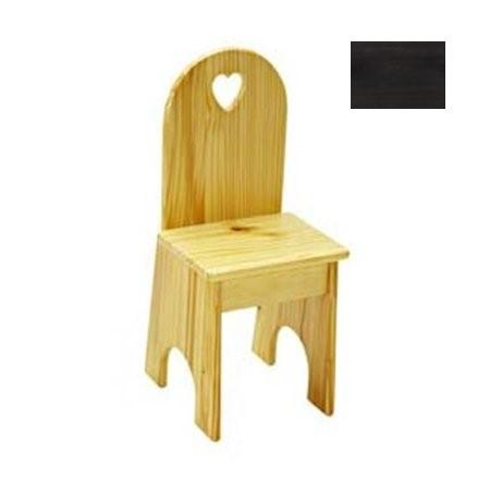 Solid Back Chair - Espresso/Heart
