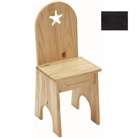 Solid Back Chair - Espresso/Star