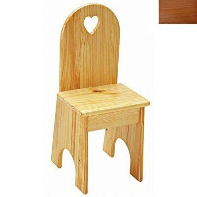 Solid Back Chair - Honey Oak/Heart