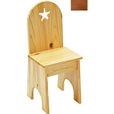 Solid Back Chair - Honey Oak/Star