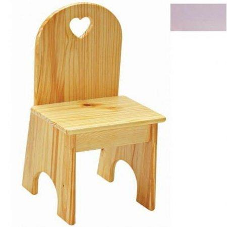 Solid Back Chair - Lavender/Heart