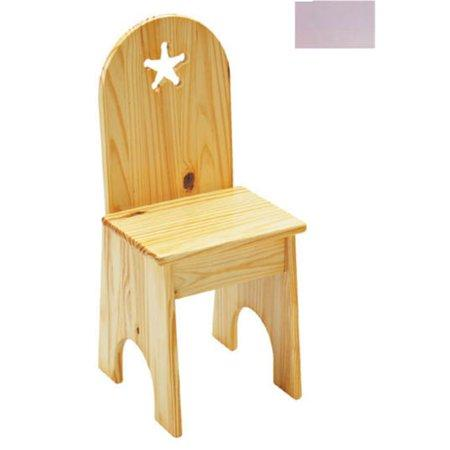 Solid Back Chair - Lavender/Star