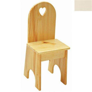 Solid Back Chair - Linen/Heart