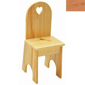 Solid Back Chair - Natural/Heart