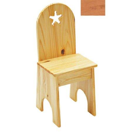 Solid Back Chair - Natural/Star