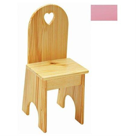 Solid Back Chair - Soft Pink/Heart