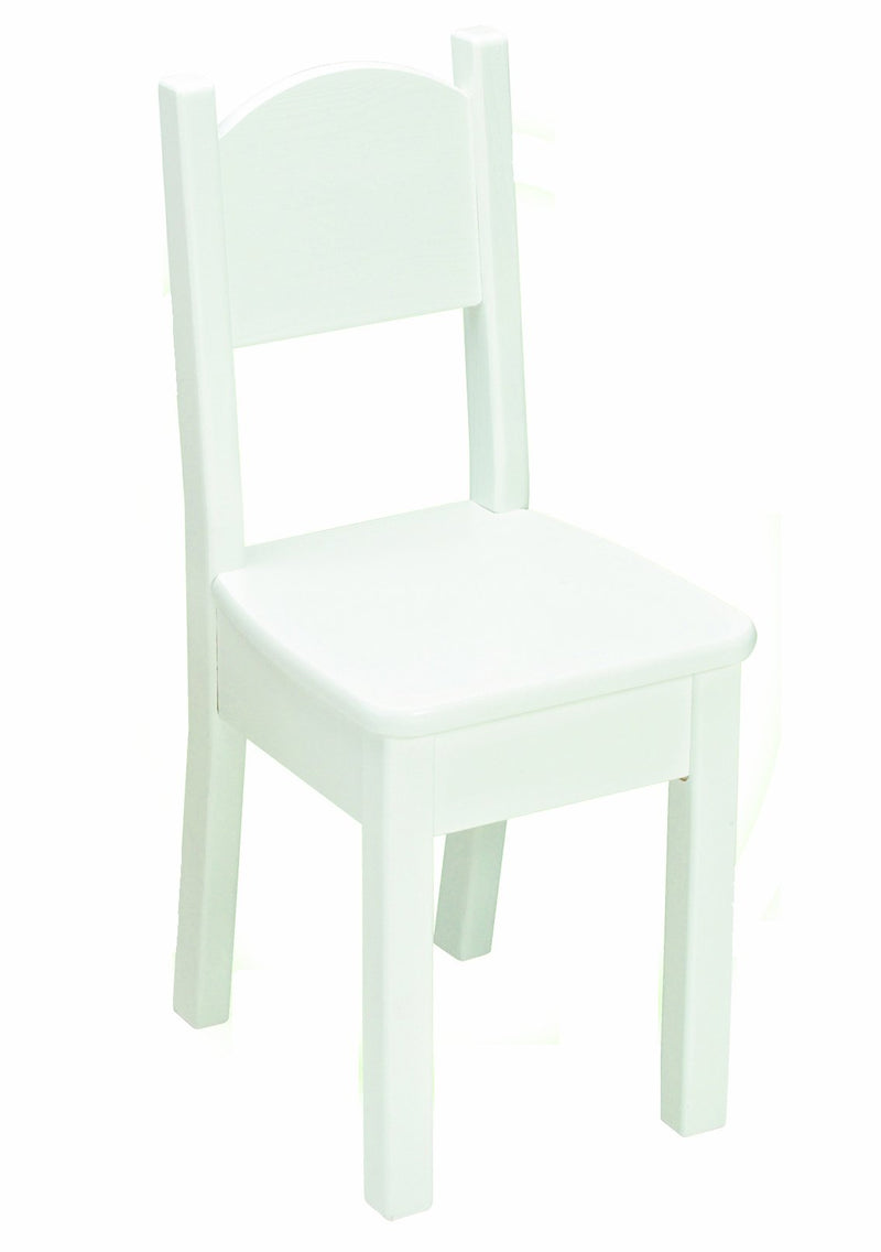 Open Back Chair - Solid White