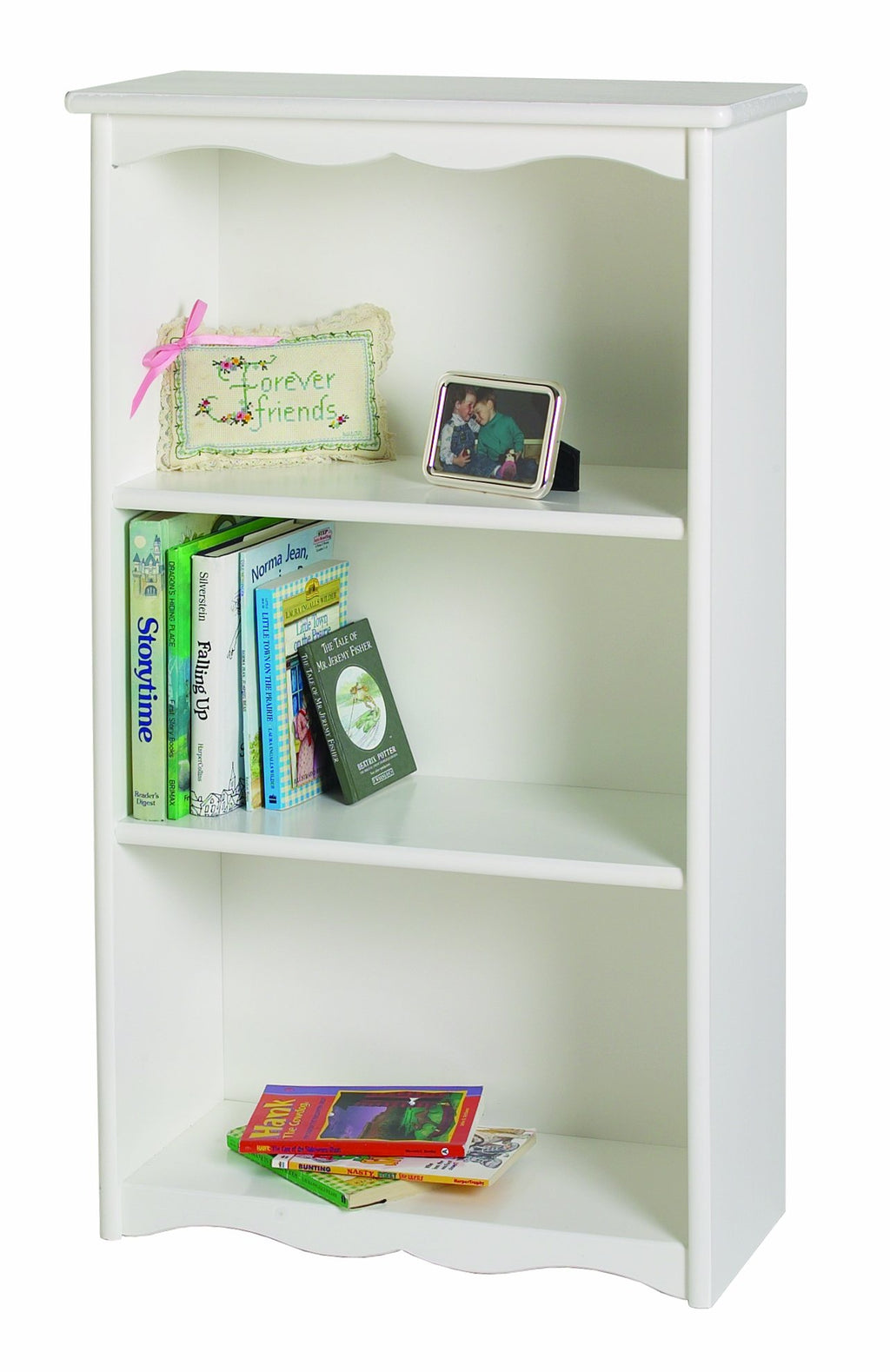 Traditional Bookcase - Solid White