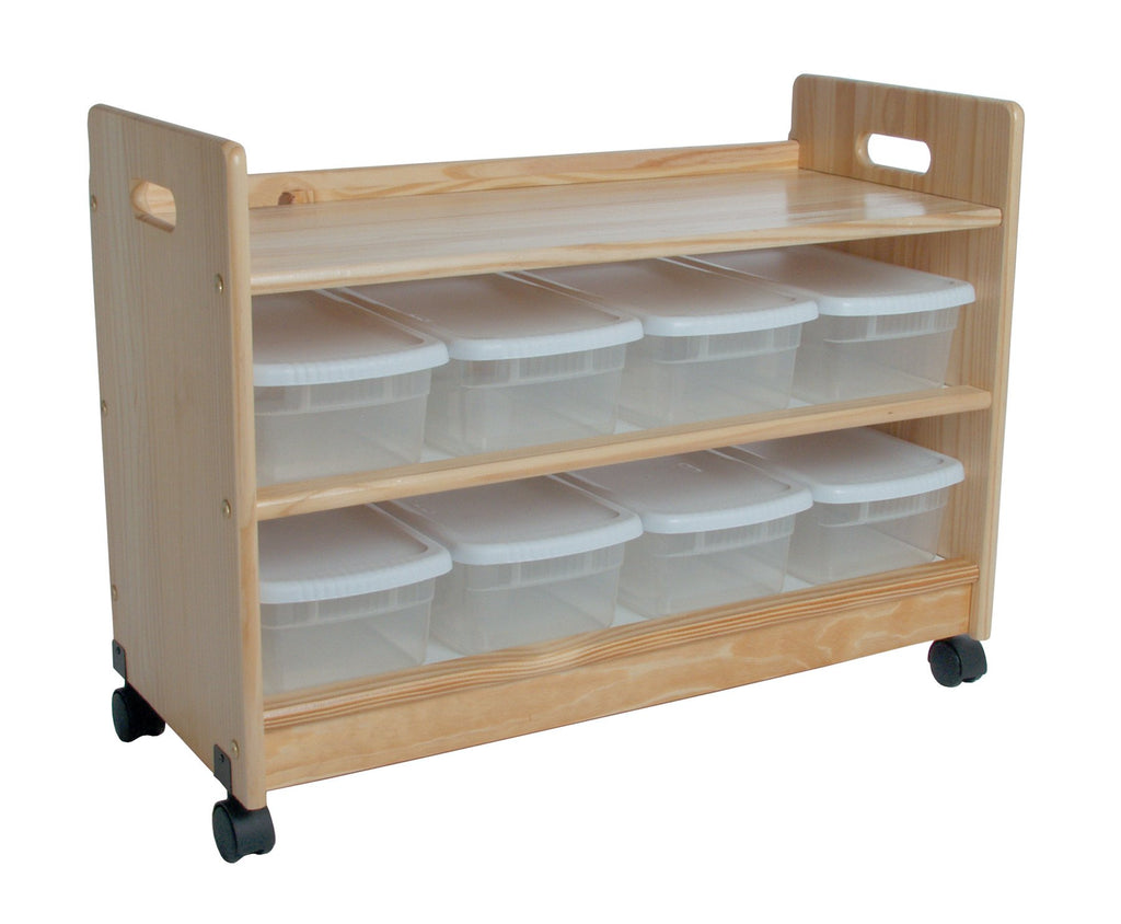 Toy Organizer W/Casters - Natural