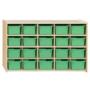 Multi-Configuration Contender Tray Storage with Colored Trays