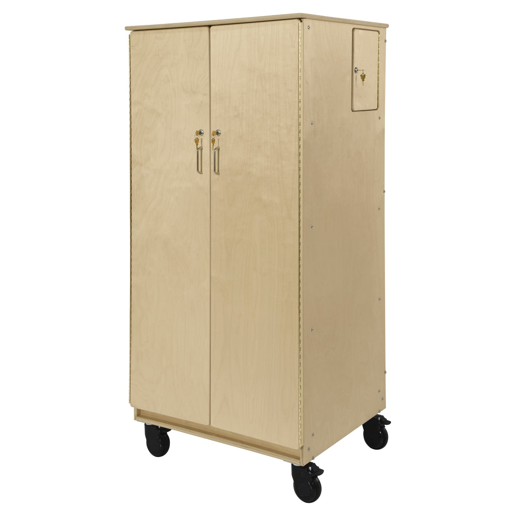 Contender Teacher's Four Cubby Locking Cabinet
