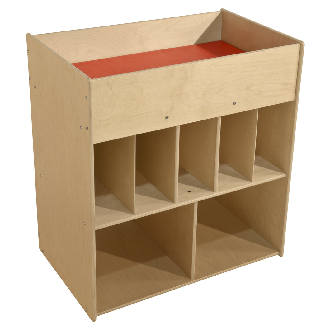 Contender Economy Diaper Changing Station with Shelves