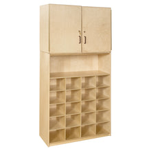 Contender 20 Tray Cubby Storage Locker and Cabinet with Colored Bins