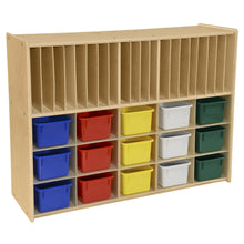 Contender 15 Assorted Bin Cubby Storage with Paper Slots