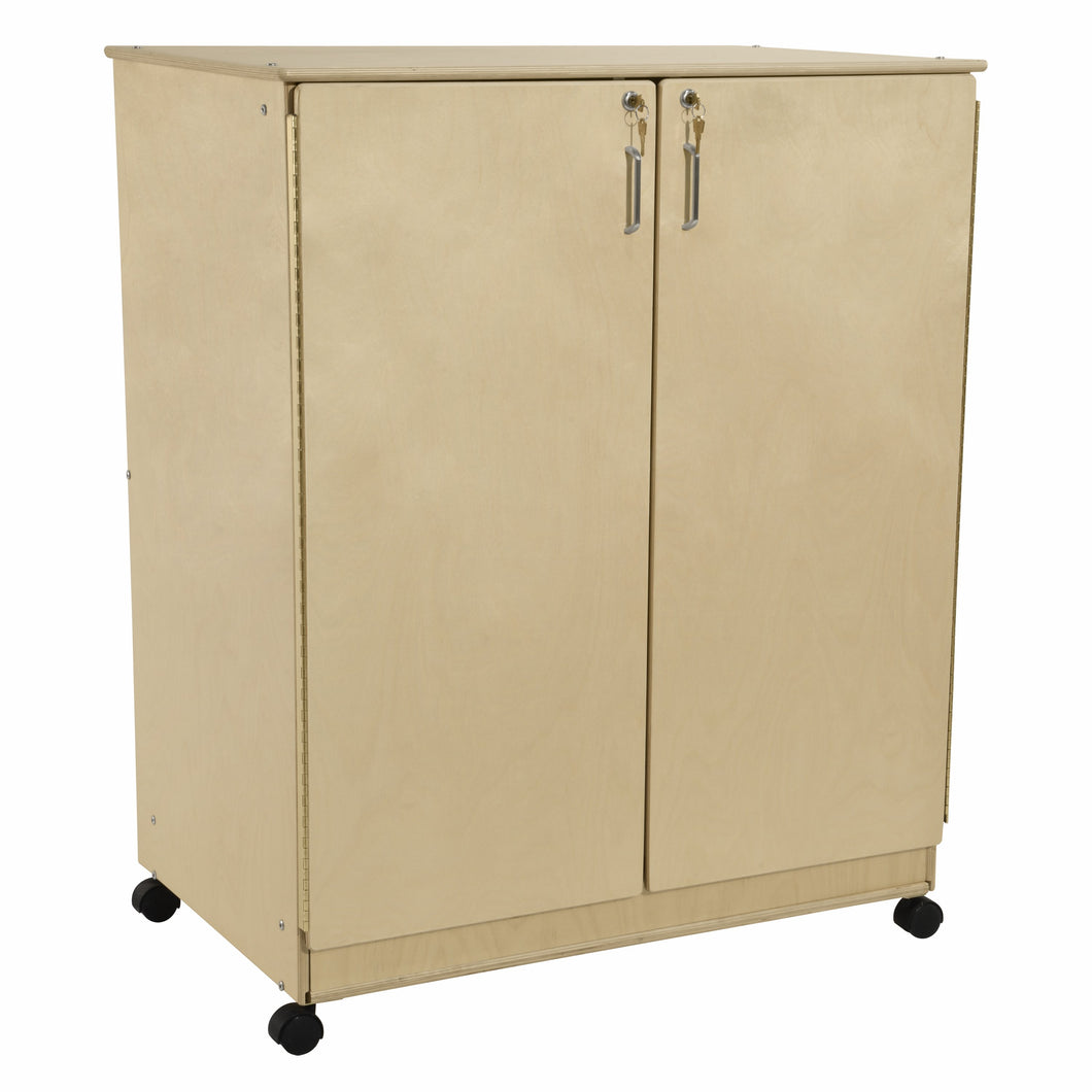 Contender Mobile Storage Cabinet with Enclosed Drawers