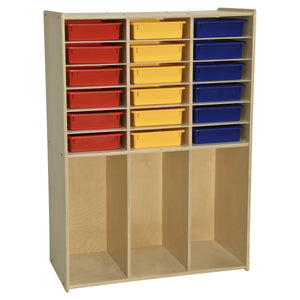 Contender 18 Tray Storage with Cubbies
