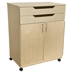 Contender Mobile Storage Cabinet with Exposed Drawers