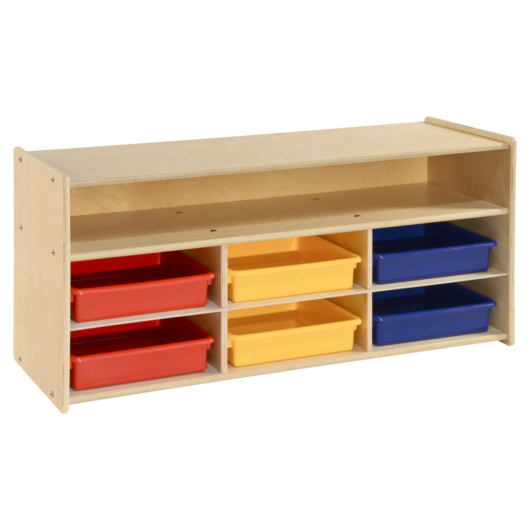 Contender 6 Colored Bins and Shelf Organizer