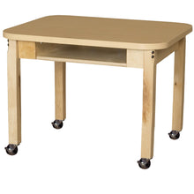 Classroom High Pressure Laminate Desk with Hardwood Legs