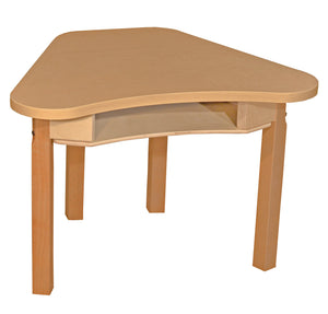 Multi-Configuration Synergy High Pressure Laminate Desk with Hardwood Legs