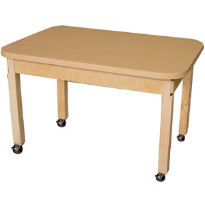 "Multi-Configuration Rectangle High Pressure Laminate Table 24"" & 30"""