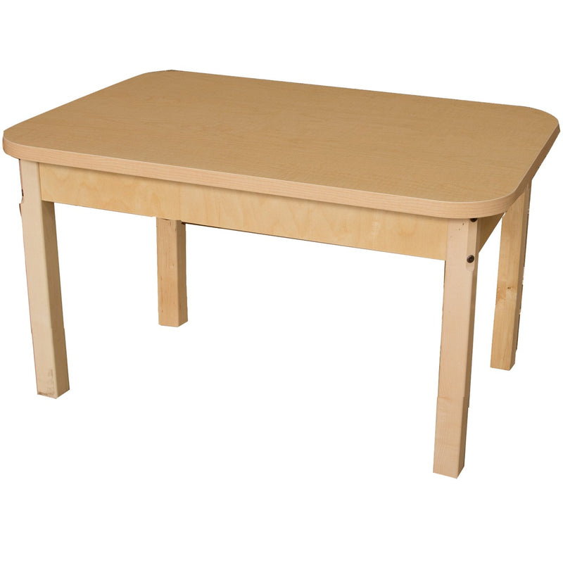 "24"" x 36"" Rectangle High Pressure Laminate Table with Hardwood Legs- 22"""