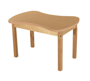 Synergy Junction High Pressure Laminate Table with Hardwood Legs