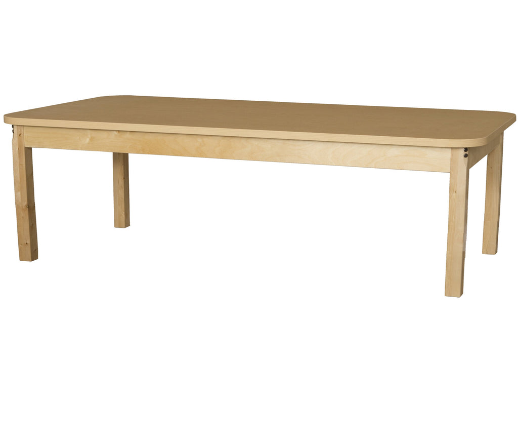 "30"" x 72"" Rectangle High Pressure Laminate Table with Hardwood Legs-29"""